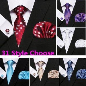 Мужской галстук набор горошек стиль серии галстук Hanky запонки классический шелк жаккардовые тканые ширина Бизнес 3 шт. / компл. партия HH7-2569