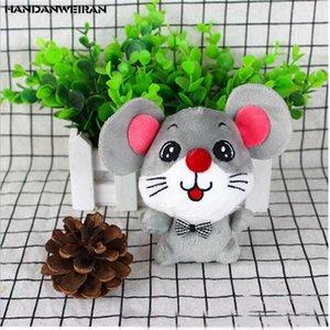 1 PC nuevas 12CM Año de la rata mascota de regalo lindo Grande-Observado pajarita linda del ratón de la muñeca colgante de fiesta para GirlsBoysChilids HANDANWEIRAN