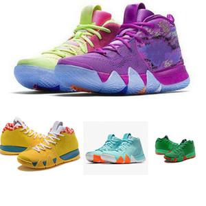2019 4s di alta qualità Kr IV Lucky Charms Colore verde Uomo Scarpe da basket Irving 4 Confetti Designer Sneaker sportive da ginnastica