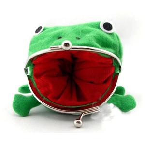 Мини портмоне мультфильм Лягушка монета сумка кошелек аниме манга форма Пух клатч косплей зеленый лягушка кошелек Оптовая продажа MJJ142