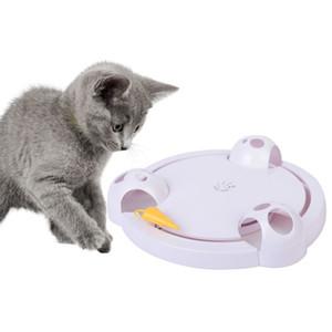 Cat интерактивные игрушки Автоматическая Вращающийся Cat Играть тизер Тарелка Мыши Поймать игрушки Электрические Смешные Игра Упражнение игрушки для Gatos