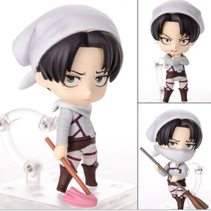 NEW hot 10cm Attack on Titan Levi Rivaille Rival Ackerman mobile cleaner Action figure toys doll collection Christmas gift CX200630