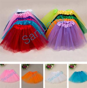 Partito Vestiti Gonne Mesh 2-8T delle ragazze pannello esterno del tutu estate pieghettata Gauzy Tutu Mini Bubble costume di balletto di ballo Dress Kids Clothes 17Color E3609