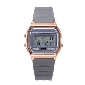 전자 스포츠 시계 커플 시계 디지털 전자 시계 패션 단색 실리콘 스트랩 MONTRES 병력 등 femmes 03 *