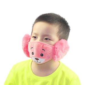 New 1 Cartoon Dust Winter Masks Ear Windproof Warm Face Mouth Child Earmuffs Ear Masks hairclippersshop OooPX