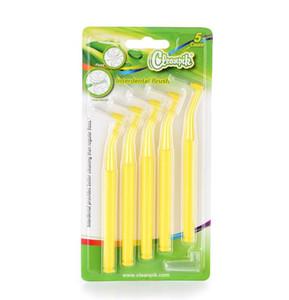 DHL livre Filamentos Macios Tooth Tooth Limpeza Escovas Interdentais Vermelho Escova 0.7mm ~ 1.5mm escovado níquel pia do banheiro