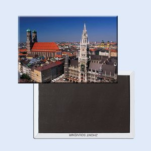 Metal Wrapped Magnets FREE shipping Germany Munich building View Tourist Metal Fridge Magnet 5265 Pet Supplies Home Garden