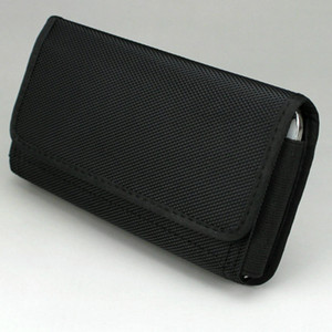 가로 나일론 파우치 케이스 허리 가방 홀스터 벨트 클립 / 루프 6.3 인치 휴대 전화에 대 한