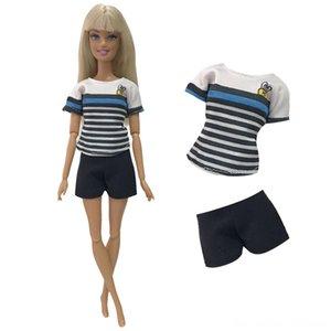 NK New Clothes Fashion Casual Doll Poupées Accessoires T-shirt + pantalon robe de soirée pour poupée Barbie Accessoires 255A 9X