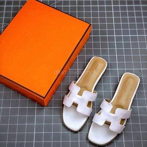 Nuovo Oran Oasis in pelle sandali di estate Stripes fioriture diapositive all'aperto infradito Womens lusso mocassini Pantofole per le donne Scuffs Beach Slides