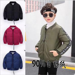 New Boys Down Parkas Jackets Winter Jacket Boy Fashion Children Thick Coats Kids Windbreaker Jackets Outwear 90-130cm Retail