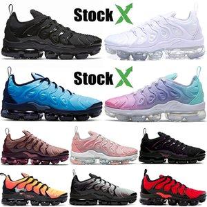 Nike Air Vapormax Plus 2020 Top-Qualität Luxus-Designer neueste Marke Tn Plus Lichtstrom Blau Fly Knit Tennis Laufschuhe Triple Black White Men Frauen Sneaker 36-47