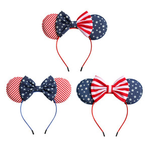 USA Flag Headband Cute Child Hairs Band Baby Bow Hair Hoop Festival Decoration Fashion Girl Princess Hair Accessiones TTA904