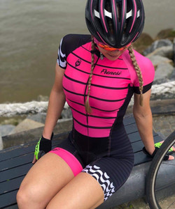 2019 Pro Team Triathlon Tuta da donna manica corta da ciclismo Maglia jinsuit Tuta da ciclismo Maillot ciclismo Ropa ciclismo set gel 018