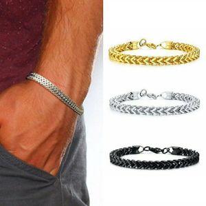 Isang 2020 Vintage Mens Brand Bracelets Fashion Gold Black Titanium Wristbands Bracelet 2020 Party Jewelry Wholesale IB0528
