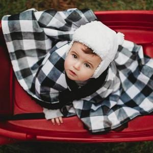 15423 enfant nouveau-né bébé Couverture en peluche double couche Tissu polaire bébé Minky couvertures moelleuses Swaddle Babies Couverture Enveloppé Tissu