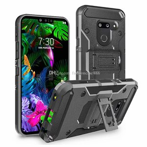 Clip belt case Hybrid PC TPU Armor Cover for LG G6 V30 Stylo 3 Stylo 4 Stylo 5 G8 V5 Thinq K40 X STYLE MOTO G7 Play G7 Power Pixel 3 XL3