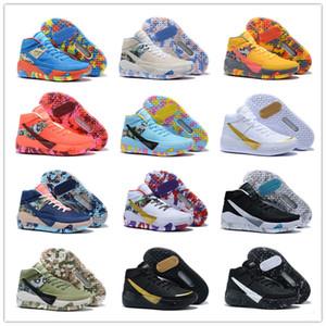 2020 New Kevin Durant KD 13 Chaussures de basket-ball KDS 13s Pour Hommes Noir Bleu Camo Soles Bred 2020 Designer New Mode Baskets sport Chaussures de sport