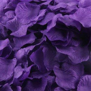 Wholesale- 200pcs Silk decorative Artificial Flower Rose Petals Wedding Party Decorations Valentine's Day Decoration u6721