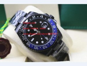 High Quality Mechanical Watch 40mm Automatic Stainless Steel Blue Black Ceramic GMT Series 116710 116710Blnr Mens Watch Watches