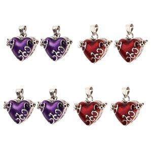 8 Stück Liebes-Herz-Emaille Öffnungsfähiges Locket Einäscherung Andenken Urn-Anhänger