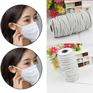 4 5 6mm DIY Mask Braided Elastic Band Bungee Cord Rope White Heavy Stretch Knit Spool 195Yards for Sewing Craft Mask Making