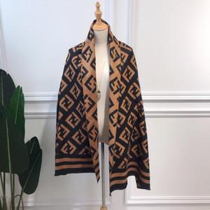 Toptan-kış eşarp Tasarımcı Tide marka Sıcak kadın Harf şal eşarp moda uzun boyun halkası yüksek kaliteli 180X70CM Cashmere Yeni karıştırmak