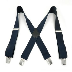 Pantalon bretelles ceinture pour Ceintures Accessoires Pantalon Hommes 4 5cm Clip Suspenders Braces avec une forte large xRETOUR Pantalons Homme Accolades Stra