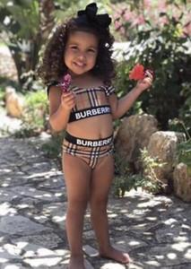 Enfants Designer One Piece Bikini Maillots de bain Summer Beach Maillots de bain filles deux pièces maillot de bain de luxe Enfants Vêtements de bébé maillot de bain