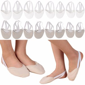 Cheap Dance 1Pair Rhythmic Gymnastics Soft Half Socks Ballroom Art Gym Accessories Elastic Dance Shoes Gymnastics