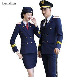 Lenshin Männer Formal Hosenanzug gerade und glatt Blazer Business Office Wear Waiter Uniform