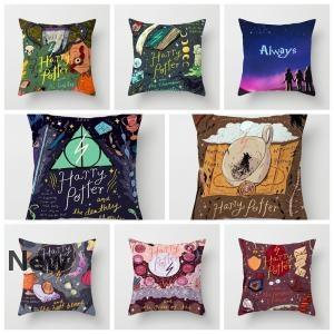 Harry Potter pillow cover the Goblet of Fire Hug Pillowcase Sofa Office Waist Cushion covers Home Car Pillow case 45*45cm 8styles GGA1574