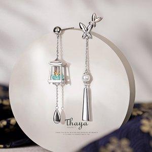 Thaya verdadeira prata 925 borlas Brincos Eardrop Exquisite Brincos Dangle For Women Fine Jewelry