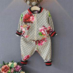 Crianças Primavera Outono Menino Menina Terno Flor Jaqueta Calças 2 Pcs Define Crianças Roupas Casuais Baby Girl Boy Set Traje