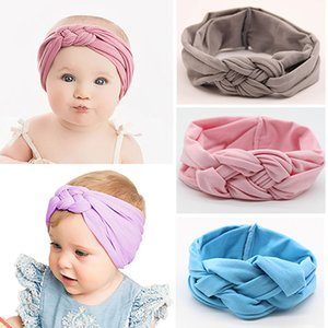 2019 Nylon Baby Headband For Girls Twisted Cross Head Wraps Hair Accessories Infant Newborn Girls Headbands Baby Bows Turban
