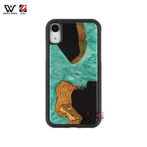 2019 Горячей Продажа Зеленый Смола Вуд телефон дело Обложка для iPhone 6 7 8 X XI XR XS Max