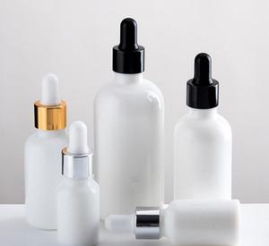 5ml 10ml 20ml 30ml 50ml 100ml Esansiyel Yağı Yeni Reaktif Pipet Doldurulabilir Şişe için İnci Beyaz Cam Damlalık Şişe Parfüm Numune Tüpler