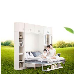 TB1001 Fabricante personalizada multifuncional moderna muebles de dormitorio de madera tirón hacia abajo la cama cama plegable pared Cama plegable