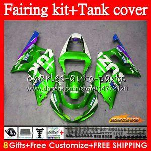 Body + Tank For SUZUKI GSX R750 K1 GSXR 600 750 CC GSXR750 65NO.116 GSXR-600 GSX-R750 light green GSXR600 2001 2002 2003 01 02 03 Fairings