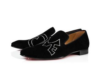 Moda Kırmızı Alt Dandylove Loafers Daire Erkekler Oxford Mükemmel Kalite Moccasin Parti Elbise Düğün lüks zarif Stil siyah