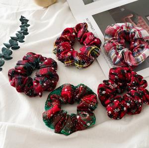 INS femmes de Noël chouchous rouges Filles de chouchous des enfants mignons filles accessoires Serre-têtes liens cheveux cheveux pour les femmes tête bandes