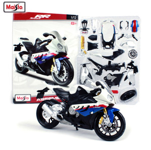 Hot Maisto 1:12 S1000RR Liga de Brinquedo Da Motocicleta Motocicleta Carro DIY Modelo de Motor Montado Crianças Brinquedos Adultos Kits de Brinquedos Frete Grátis SH190910