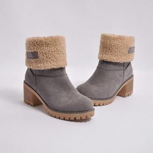 2020 Новые дизайнерские обувь Женщины Snow Зимние замшевые меховые сапоги Австралия Классический Kneel Половина Сапоги Ботильоны Black Green