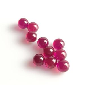Neue 6mm Ruby Pearl Terp Ball Tops mit roter Farbe geändert echte Perlen für Glas Rauchen Wasserpfeifen