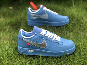 OW Ortak Adı AF1 Kuzey Kart Mavi Gümüş Kanca Spor Ayakkabı Ayakkabı CI1173-400 Kapalı Hot 2020 Erkek ve Kadın ayakkabı