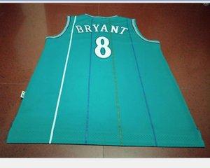 Rara # bordado AUTÉNTICO tamaño de Jersey S-5XL universidad Baloncesto 8 K B Hombres verde de la vendimia o la costumbre cualquier nombre o el número del jersey