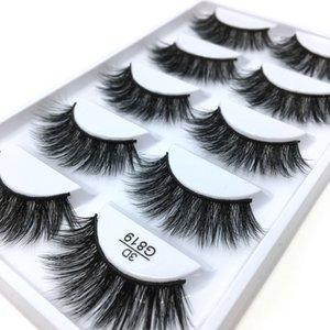 3D Stereotypes False Eyelashes Five-Pack Natural Thick False Eyelashes G819 Hand-Made False Eyelashes Artificial Wholesale
