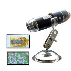 Wholesale1600X / 1000X / 500X 메가 픽셀 8 LED 디지털 USB 현미경 Microscopio 돋보기 전자 스테레오 USB 내시경 카메라