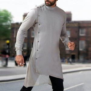 Abaya 2020 News Autumn Men Arabic Muslim Dress Kaftan Saudi Arabia Islamic Clothing Men Pakistan Ethnic Thobe Middle East Jubah T200604
