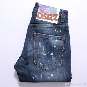 2019 модные джинсы рваные шорты джинсы Slim Fit мотоцикл байкер дизайнерские джинсы хип-хоп Mens Jean s4